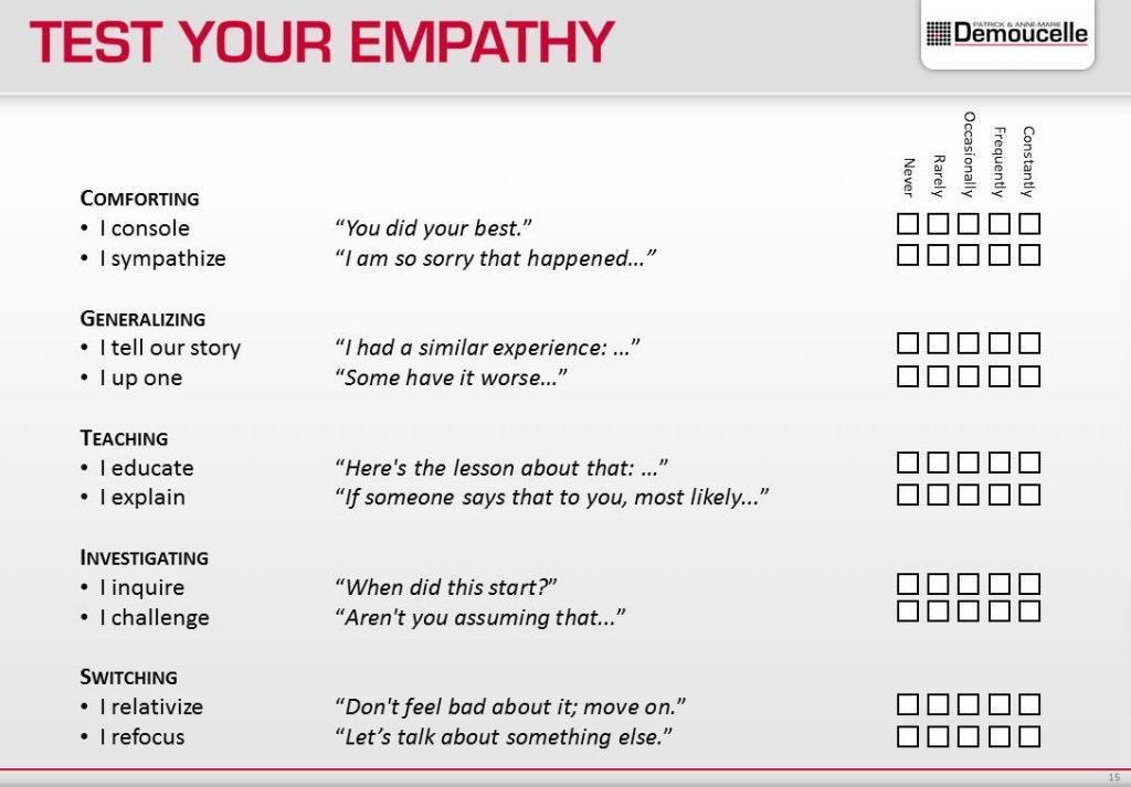 Empathy inspiring leader